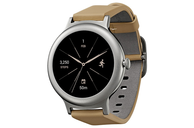 "Wearable Technology LG Watch Style Smartwatch Android Wear Display OLED 1.2"" Cinturino in vera pelle thumbnail 2"
