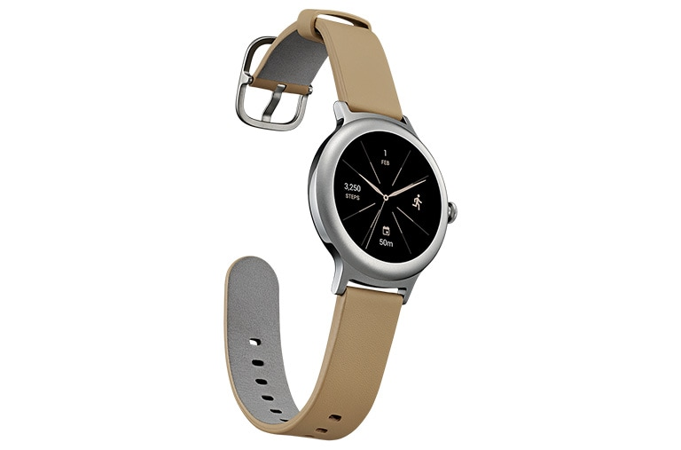 "Wearable Technology LG Watch Style Smartwatch Android Wear Display OLED 1.2"" Cinturino in vera pelle thumbnail +3"