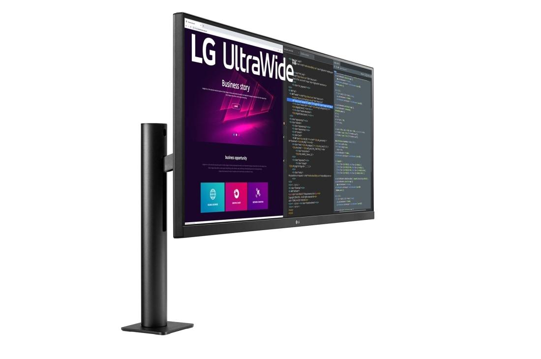 LG 画面の位置を自在に調整できるアームスタンド採用 ウルトラワイドモニター, perspective view, 34WN780-B