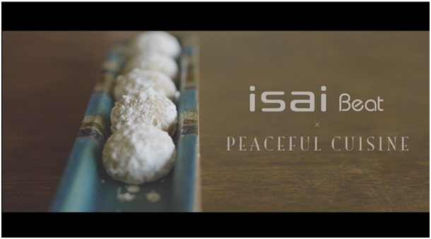 Peaceful Cuisine ✕ isai Beat Peanuts Snow Balls が焼きあがる間に高音質を!