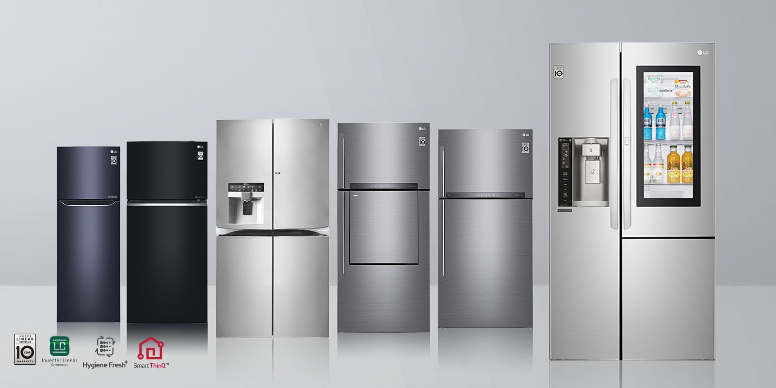 Lg Refrigerators 10 Years Warrantee On Fridges Inverter