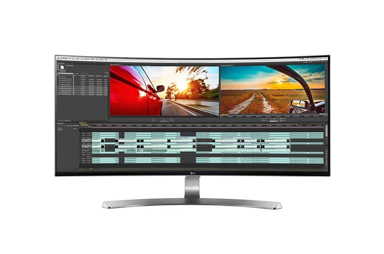 "Monitors Discover the LG 34"" 21:9 Curved UltraWide WQHD IPS LED Monitor (Diagonal)  thumbnail 1"