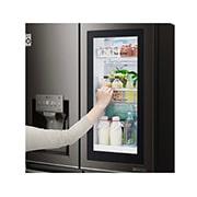 LG InstaView Door-in-Door™, Four Door Refrigerator, 889L Gross Capacity with HygieneFRESH+™, Black Stainless Color, GRX-334DPB, thumbnail 6