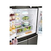 LG InstaView Door-in-Door™, Four Door Refrigerator, 889L Gross Capacity with HygieneFRESH+™, Black Stainless Color, GRX-334DPB, thumbnail 9