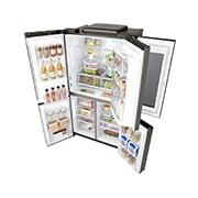 LG InstaView Door-in-Door™, Four Door Refrigerator, 889L Gross Capacity with HygieneFRESH+™, Black Stainless Color, GRX-334DPB, thumbnail 13