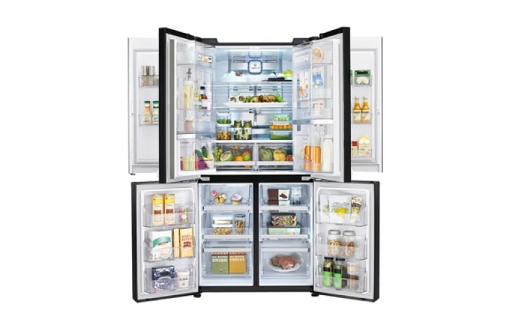 Refrigerators Feel the Convenience of the 36 cu ft LG French Door Refrigerator (GRD-364PG)  thumbnail +3