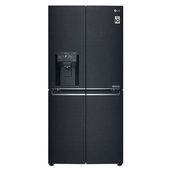 Slim French Door Fridge 570L Gross Capacity, Inverter Linear Compressor, Door-in-Door in Matt Black Color1
