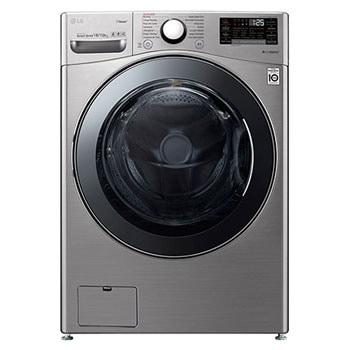 18/10kg Front Load Washer Dryer, with Inverter Direct Drive Motor, True Steam & ThinQ (Wi-Fi) Silver Color1