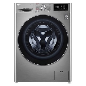Front Load Washing Machine Silver Color, 9KG Capacity with AI DD™, Steam™ & ThinQ™1