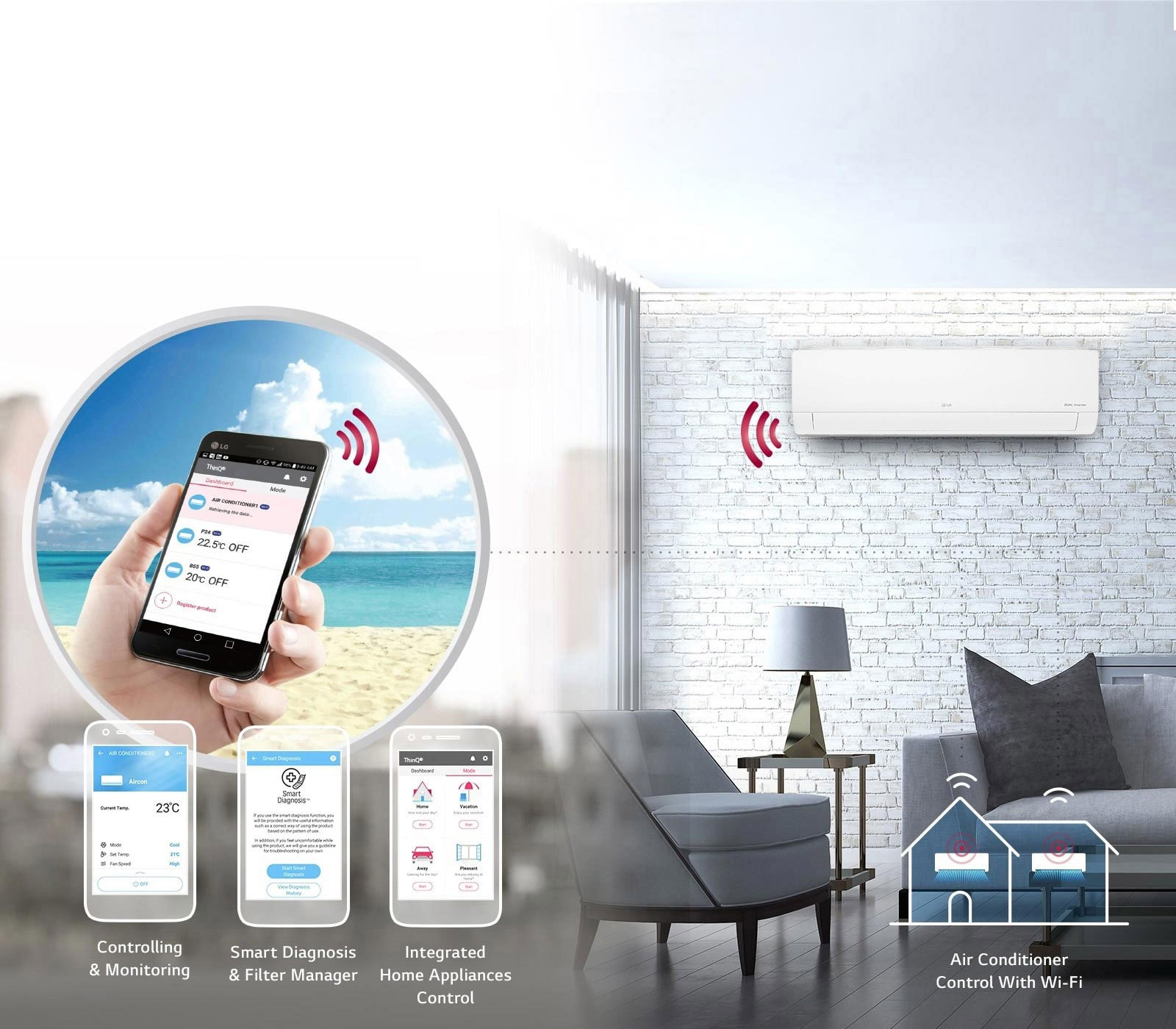 Built-in Wi-Fi Smart Control<br>1