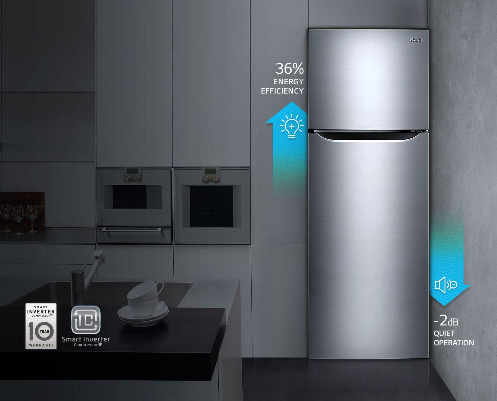Lg 260l Silver Top Freezer Refrigerators Lg Electronics