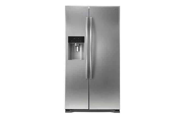 lg 567l shiny steel side by side refrigerators lg electronics sri lanka. Black Bedroom Furniture Sets. Home Design Ideas