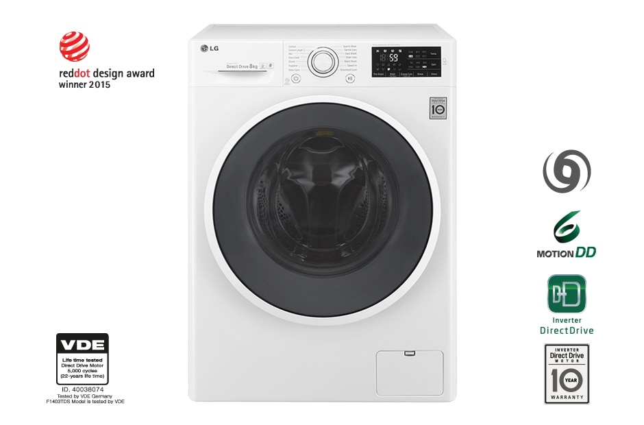 LG Washing Machines F1408DC3W 1