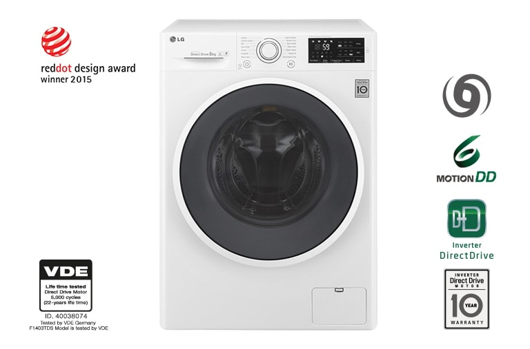 LG Washing Machines F1408DC3W thumbnail 1