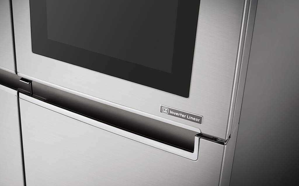 A side view of LG InstaView Door-in-door