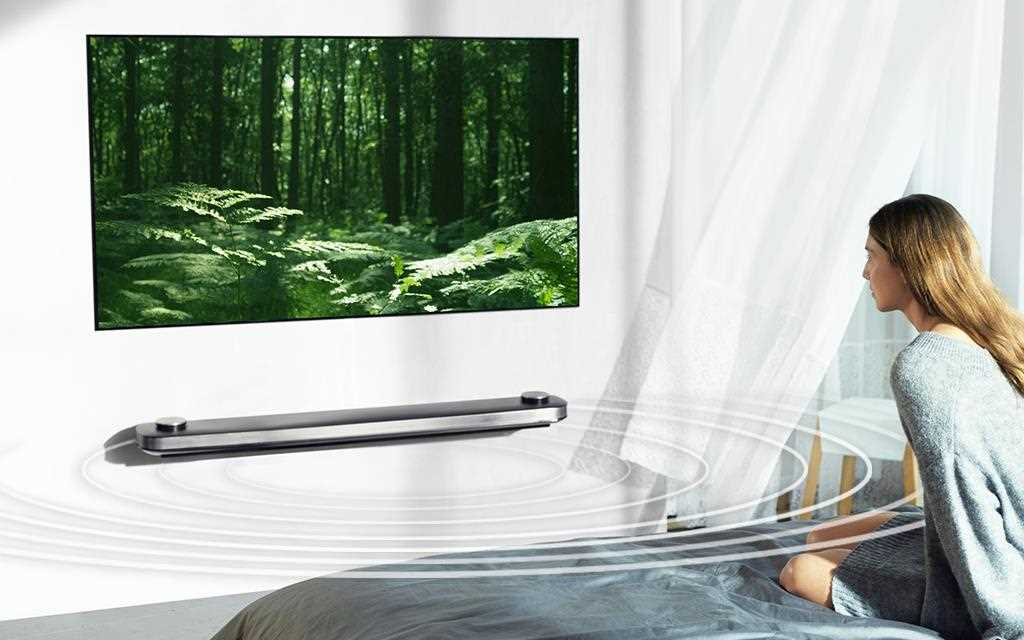 An image of showing LG OLED TV fills in the surrounding sound in the room.