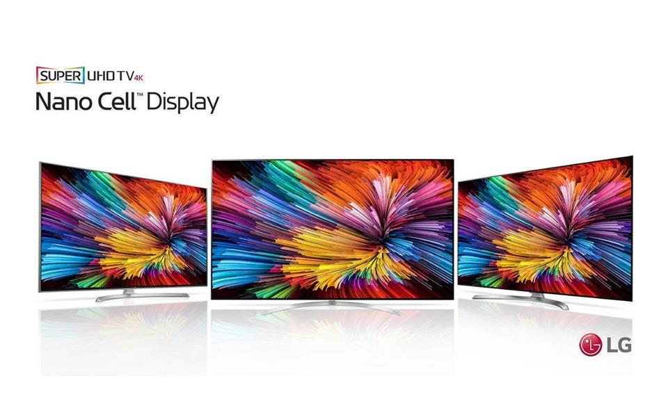A group shot of lg oled tv nano cell display products