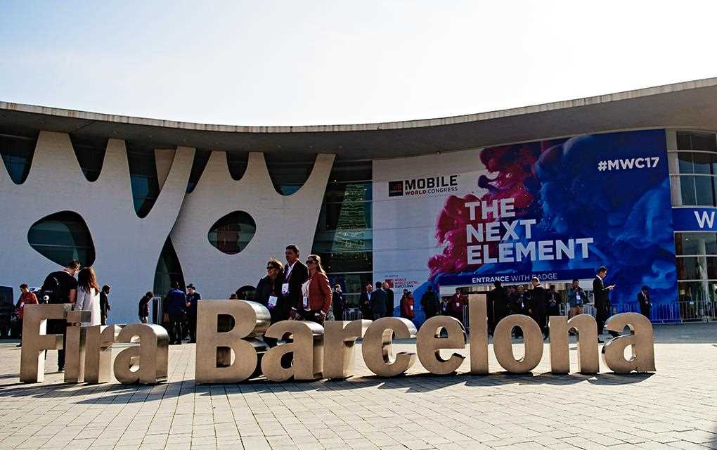 An image of the venue of mwc 2017 at fira barcelona gran via