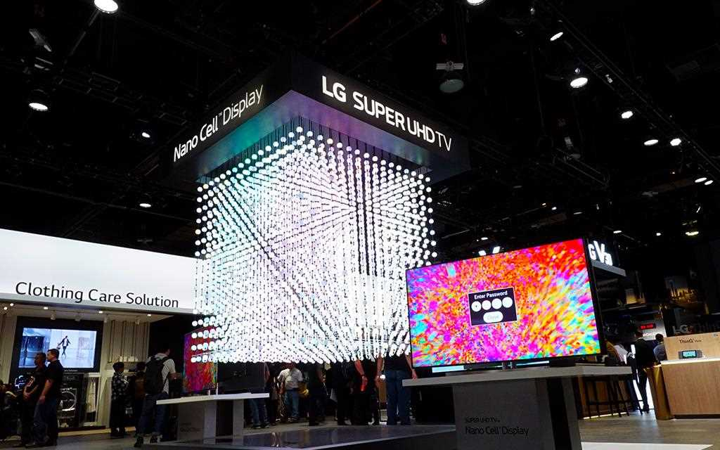 At CES 2018 LG presents an installation which symbolize each nanocell pixels