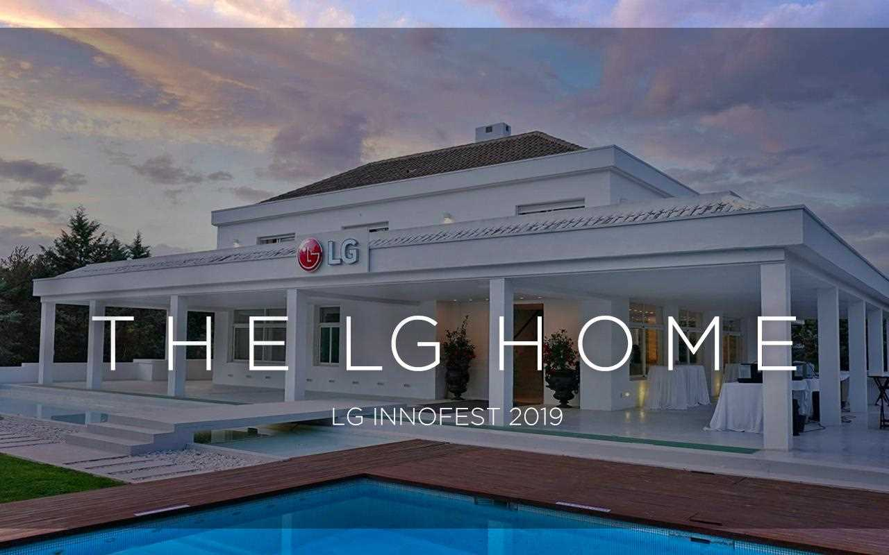 The front view of the beautiful LG smart home, where products were placed in a Madrid mansion to celebrate InnoFest 2019 | More at LG MAGAZINE