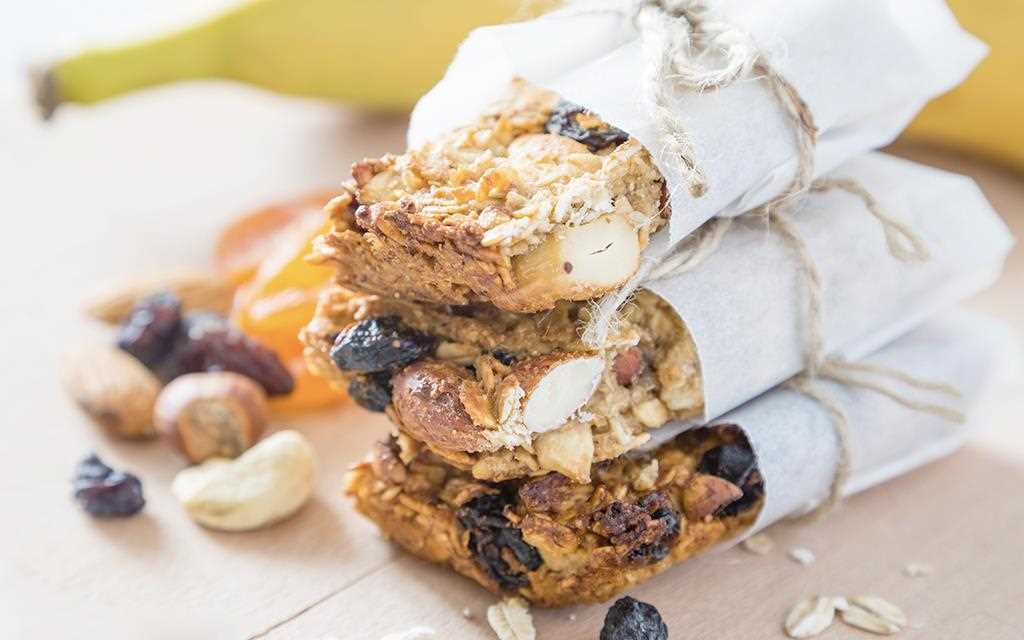 The image of energy bars for essential items of summer holiday