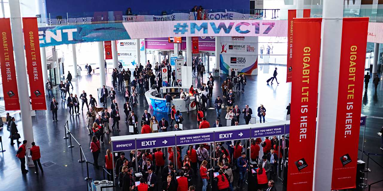 A bird eye view image of the mwc 2017
