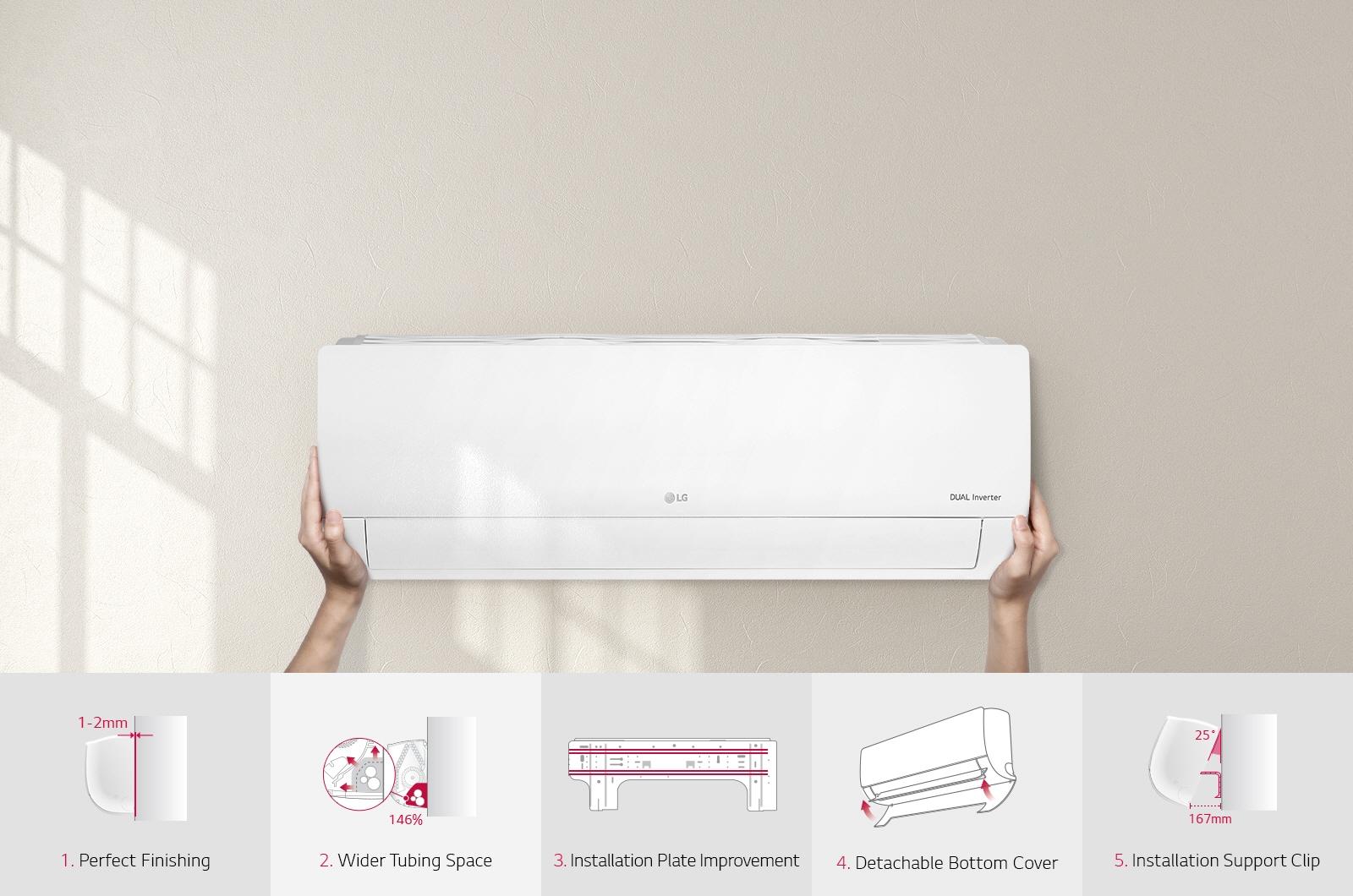 Lg climatiseur dual inverter 18000 btu lg maroc for Climatiseur mural lg 18000 btu