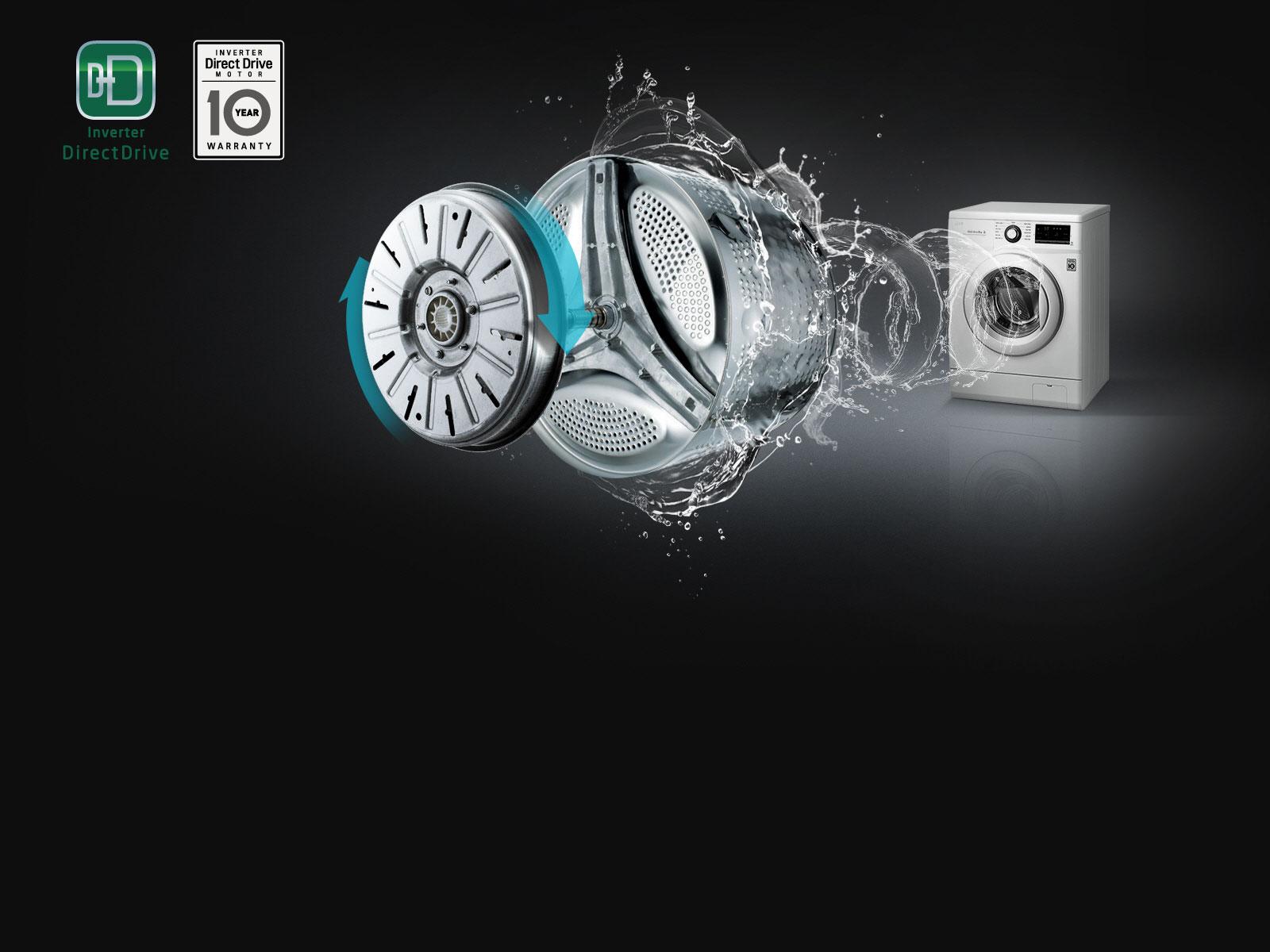Technologie Inverter DD pour un lavage puissant