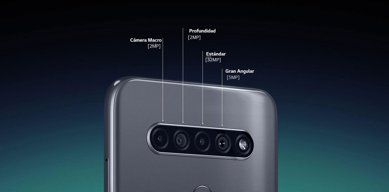 LG K41S, Penta Cámara (4 cámaras traseras + 1 frontal)