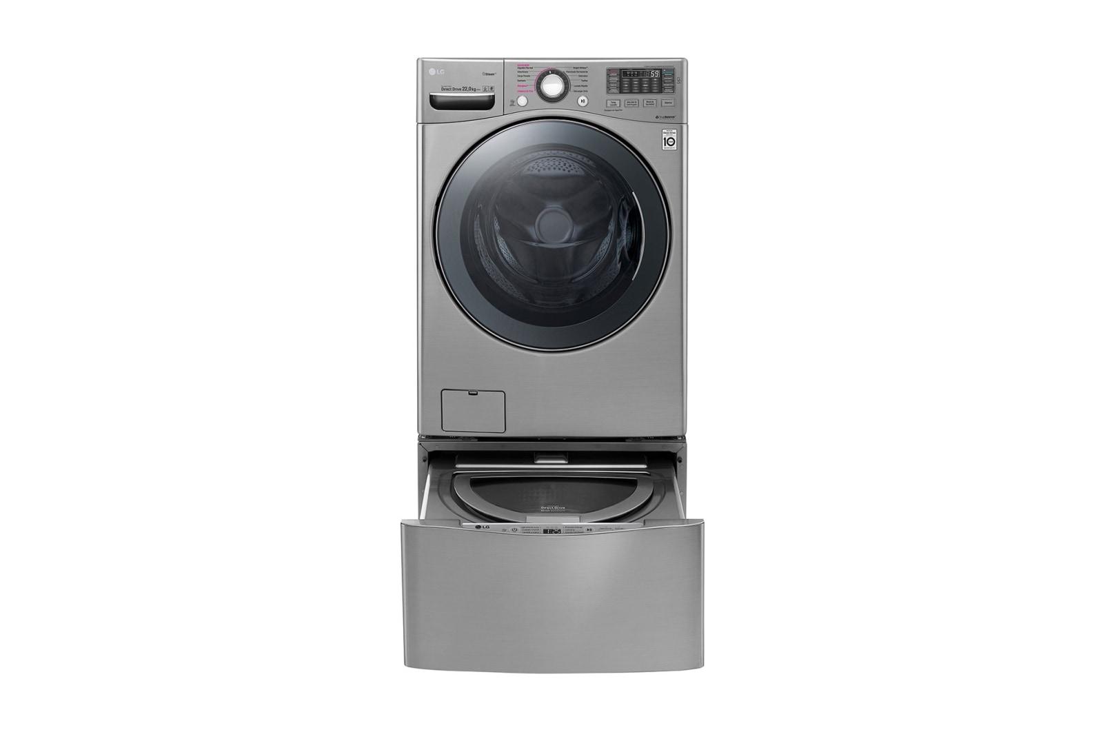Lavadora Carga Frontal de 55 Libras - 6 Motion DD con Motor Inverter Direct Drive - Smart Diagnosis? - Compatible con LG TWINWash? Mini