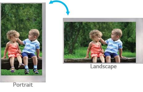 Modo paisaje y retrato (horizontal y vertical)