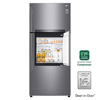 Refrigerador Smart Top Freezer | Door-in-Door® 18 cu.ft | Linear Inverter1