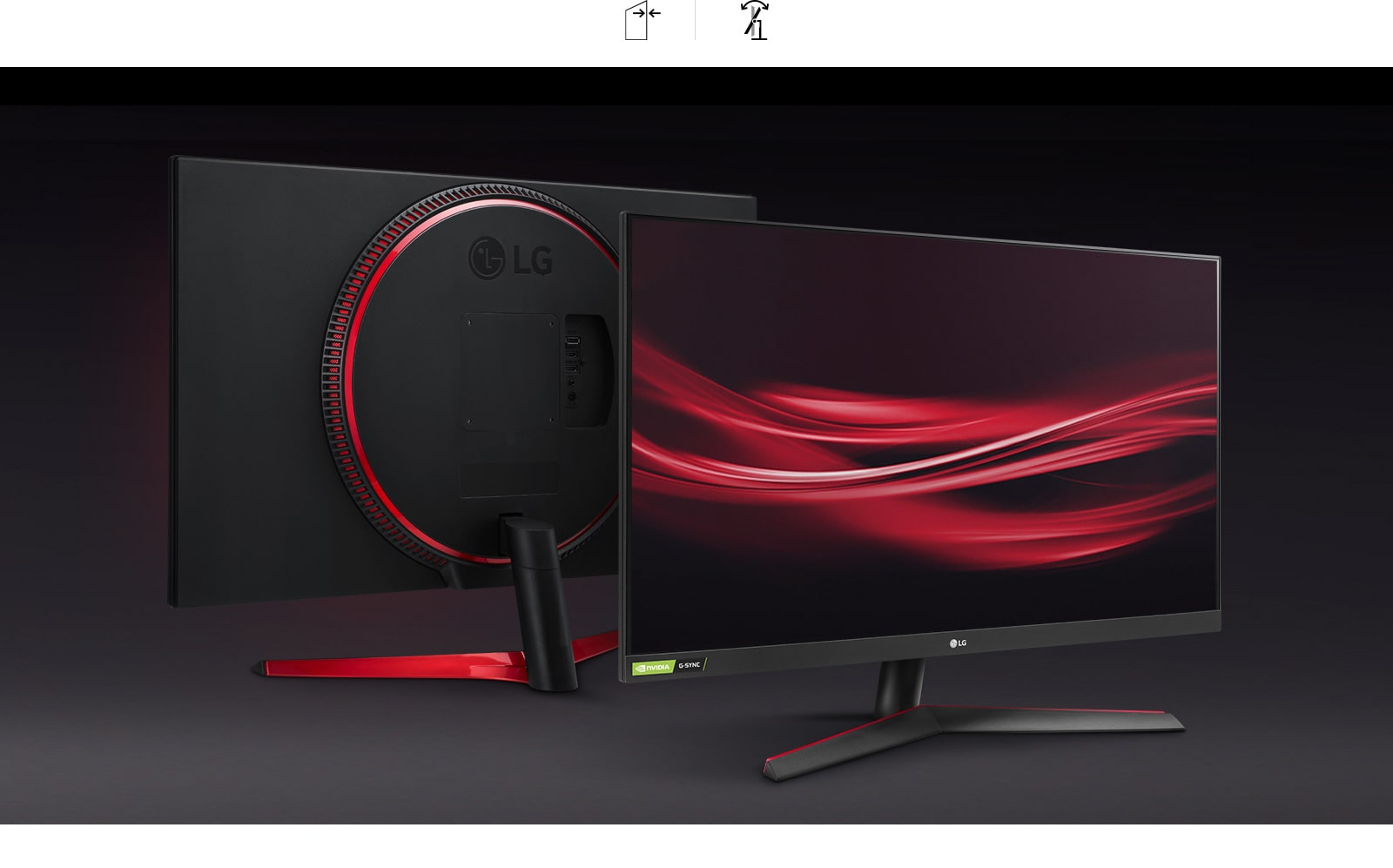 Monitor in Stylish Design with Tilt, and Height Adjustable Stand