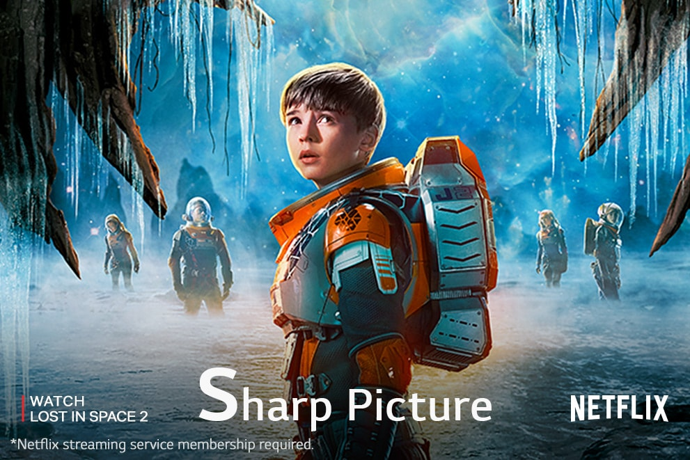 """A scene from the Lost in Space2,labeled""""SharpPicture"""""""