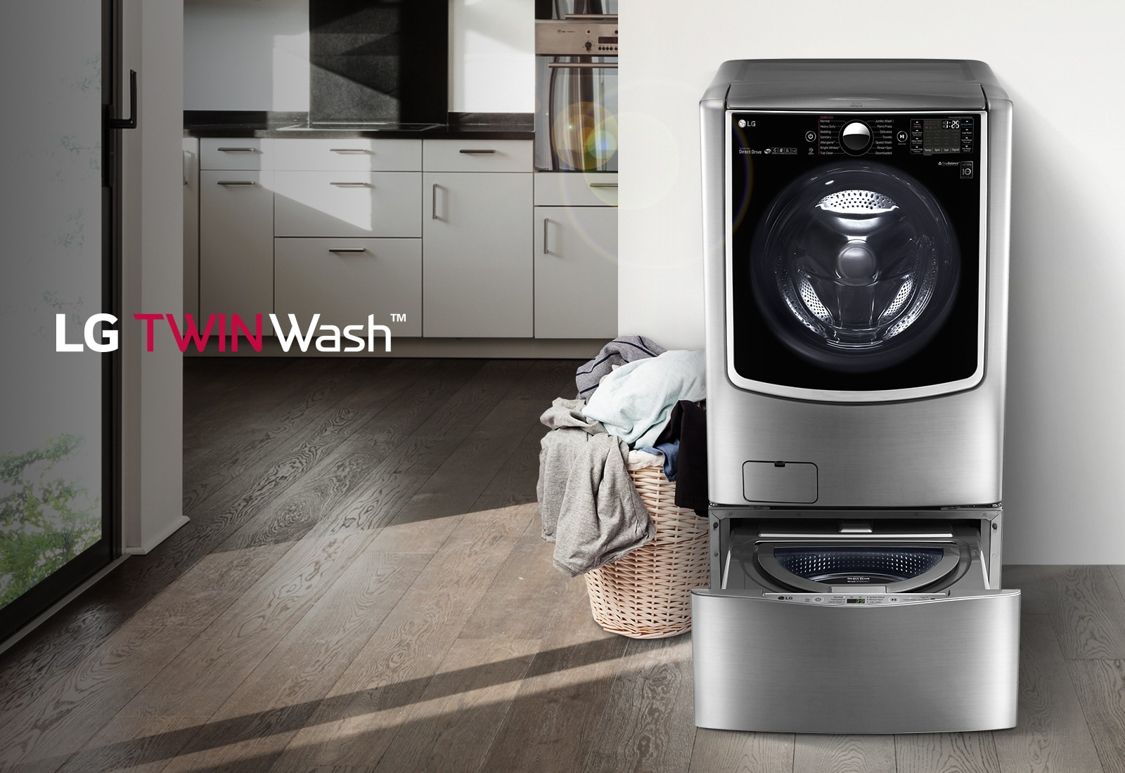 how to clean lg inverter direct drive washing machine