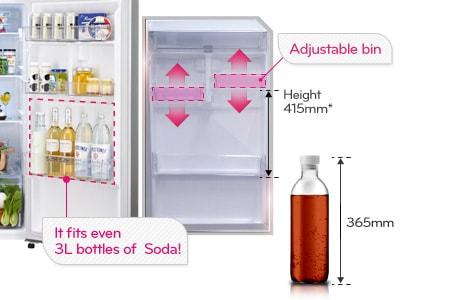 Tall Bottle Door Bin (Adjustable)
