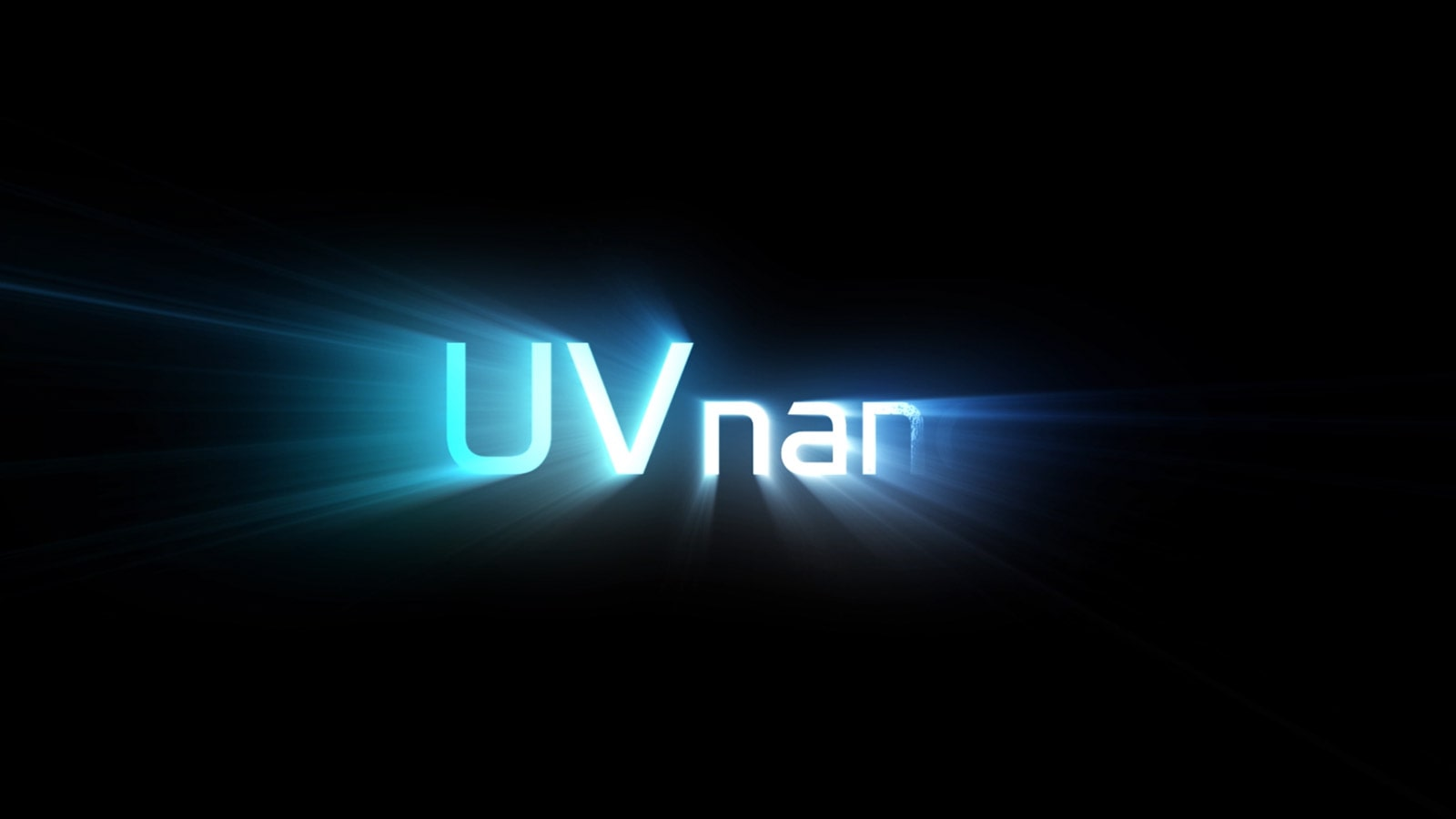 UV nano logos are shining and cut to close up of earbuds being sanitized with UV nano light.