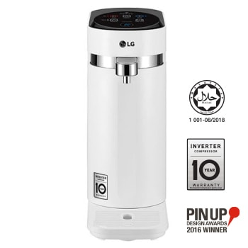 Tankless LG PuriCare™ Water Purifier with 3-stage filtration & Tankless Hot / Cold / Ambient water, White1