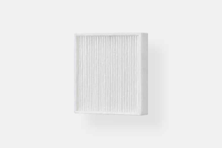 There are two H13 Grade HEPA filters.