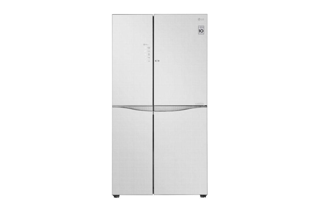 LG IEC Gross 679L Linen White Side-by-Side Refrigerators with