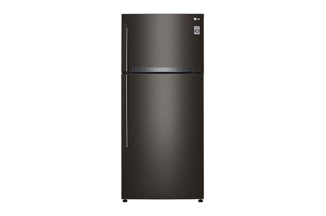 LG Nett 475L Top Freezer with DoorCooling+ & Fresh 0 Zone, Black Metal, GN-H602HXHC