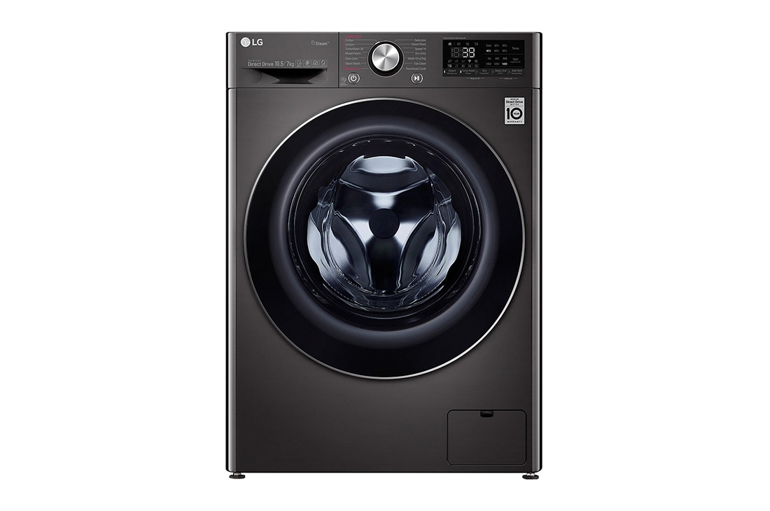 LG 10.5/7kg Front Load Washer Dryer with AI Direct Drive™ and Steam+™, FV1450H2B