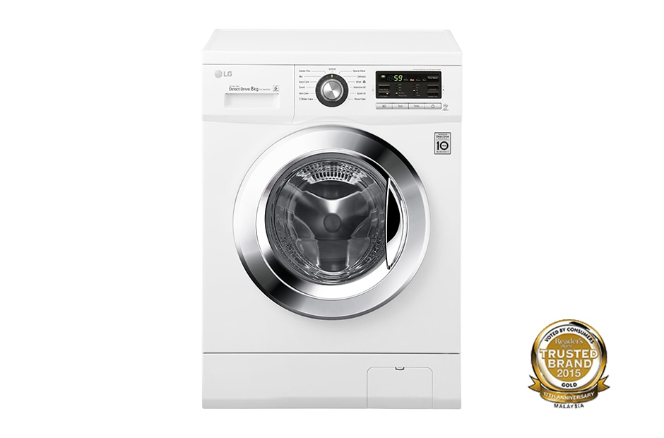 Lg 8kg 6 Motion Direct Drive Front Load Washing Machine