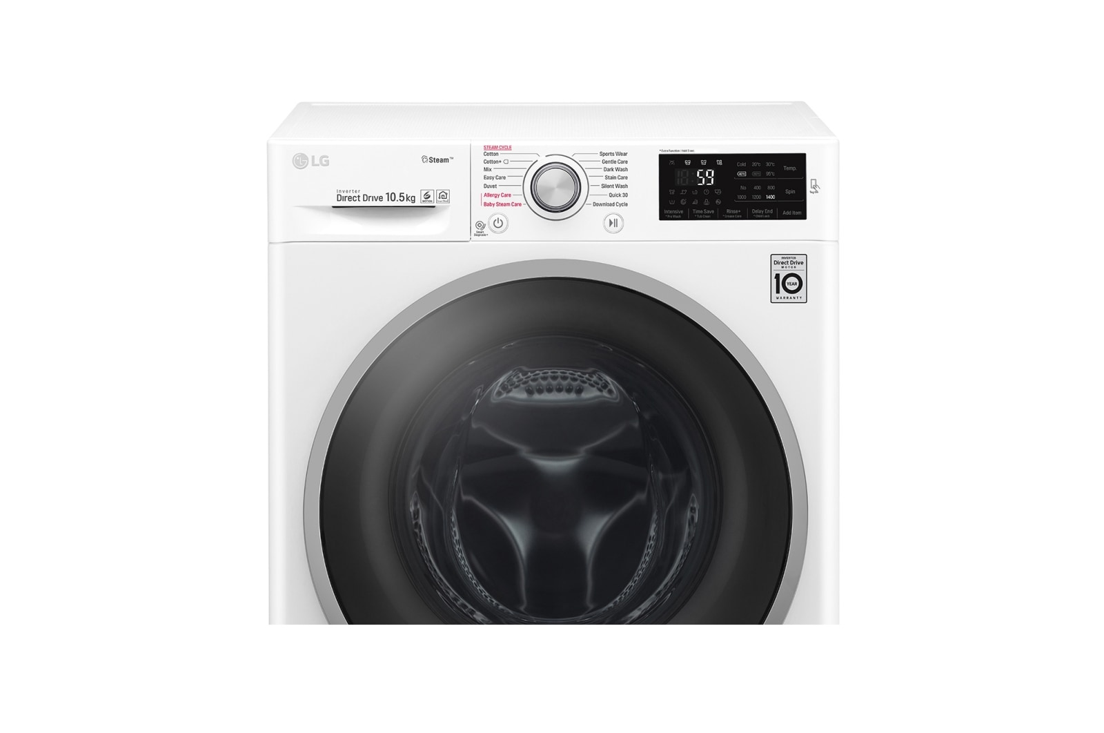 LG 10 5kg 6 Motion Direct Drive Washing Machine with Steam™ | LG