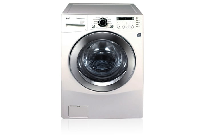 Lg white 14 8kg washer dryer with 10 year inverter direct for Direct drive motor washing machine