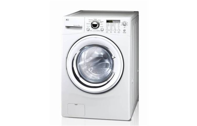 Lg white 12kg 1200rpm spin speed washer with 10 year for Direct drive motor washing machine