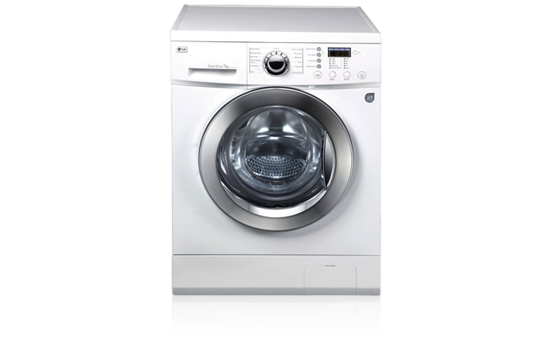 Lg white 7kg 1000rpm spin speed washer with 10 year for Direct drive motor washing machine