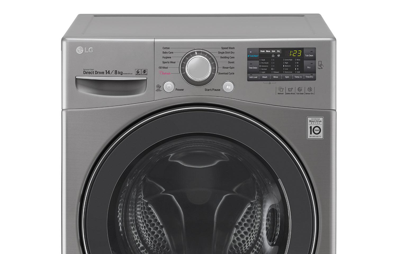 lg 14 8kg inverter direct drive washer dryer lg malaysia. Black Bedroom Furniture Sets. Home Design Ideas