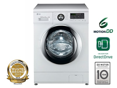 LG 8KG 6 MOTION DIRECT DRIVE FRONT LOAD WASHING MACHINE1
