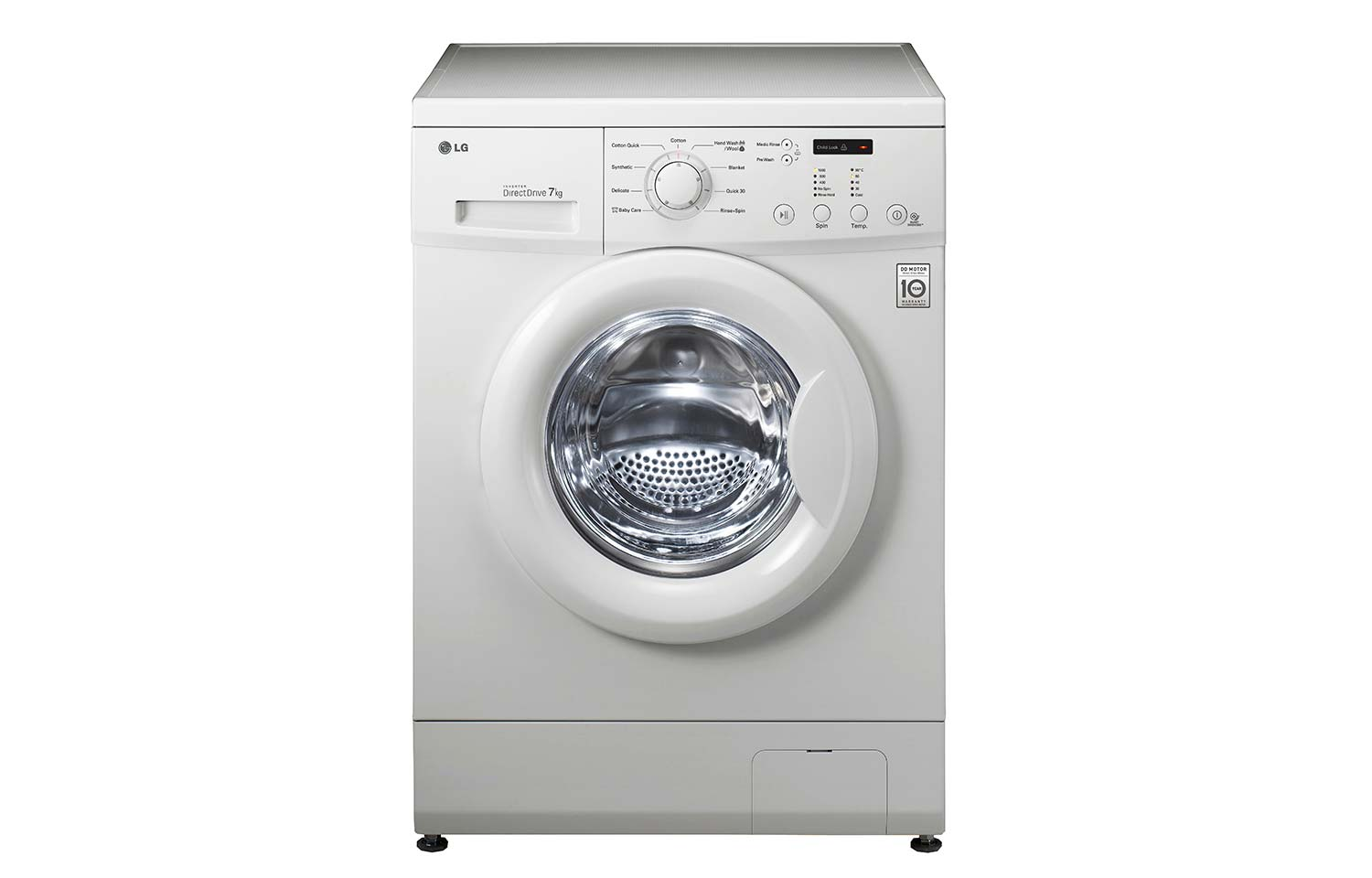 Lg 7kg 6 Motion Direct Drive Front Load Washing Machine